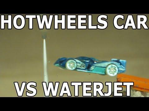 Hot Wheels Car through a 60000 PSI Waterjet - batmobile car