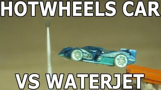 Hot Wheels Car through a 60,000 PSI Waterjet - batmobile car