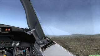 Cockpit View 737-800 NGX Approaching Elko Nevada