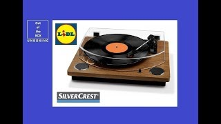 silvrcrest usb record player unboxing lidl 2 x 3 w 100 hz 10 khz 33 45 78 rpm