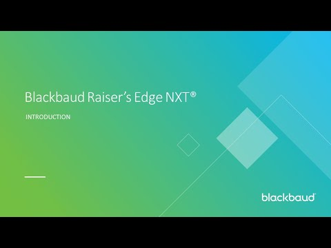 Introduction to Blackbaud Raiser's Edge NXT