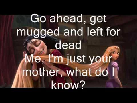 Mother Knows Best-Lyrics On Screen