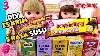 #3 Es Krim Beng Beng 5 Rasa Susu Zee, Indomilk, Ultramilk, Milo - Cooking TIme GoDuplo TV