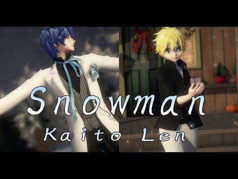 1371【MMD】スノーマン【kaito Len】