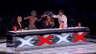 America's Got Talent 2017 Demian Aditya Full Simon Disses Mel B's Wedding Night Live Shows