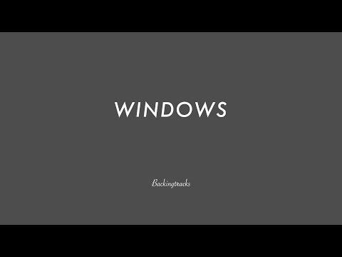 WINDOWS (no piano) - Guitar Backing Track Play Along The Real Book Jazz Standard Bible 2