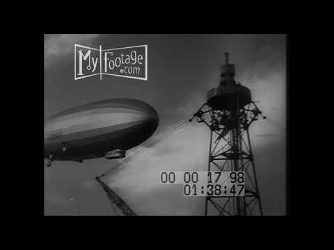1931 Fleet Problem XII USS Dirigible Zeppelin Los Angeles Moored  On USS Patoka (Silent)