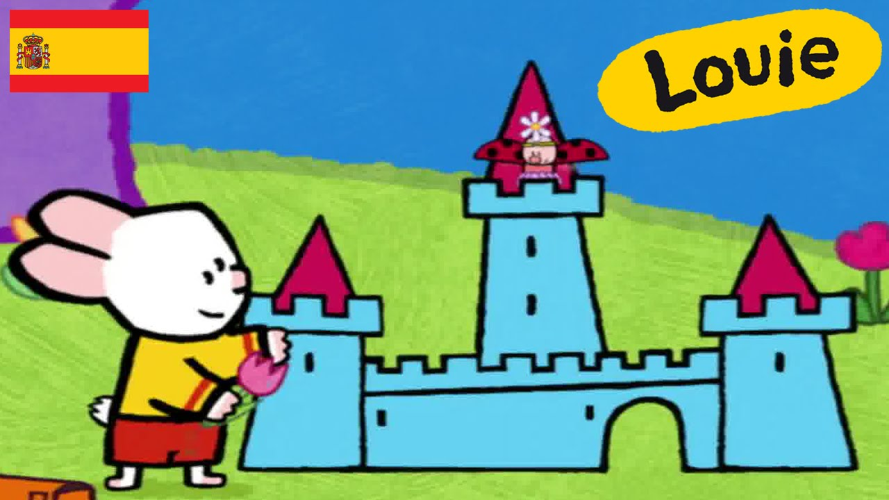 Castillo - Louie dibujame un castillo | Dibujos animados para niños ...