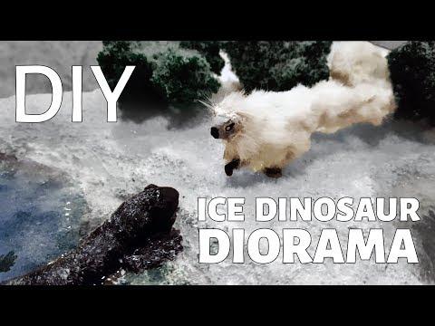 DIY Ice Dinosaur Diorama!