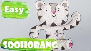 Pyeongchang Olympic 2018 mascots, Soohorang drawing