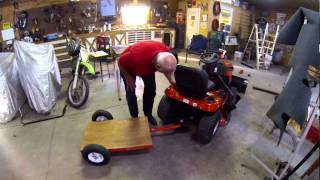 Weekend Project #217:garden Tractor Snow Plow Lift & Small Trailer