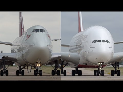 WHICH IS LOUDER? Airbus A380 vs Boeing 747