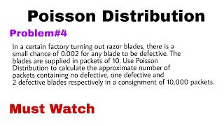 3  Poisson Distribution | Concept and Problem#2 - MKS TUTORIALS by