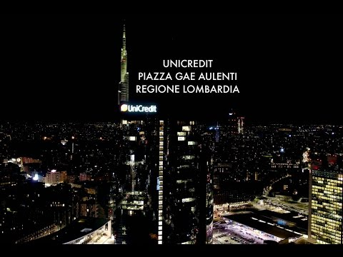 DJI Inspire2 Unicredit Tower & Regione Lombardia in Milan Italy