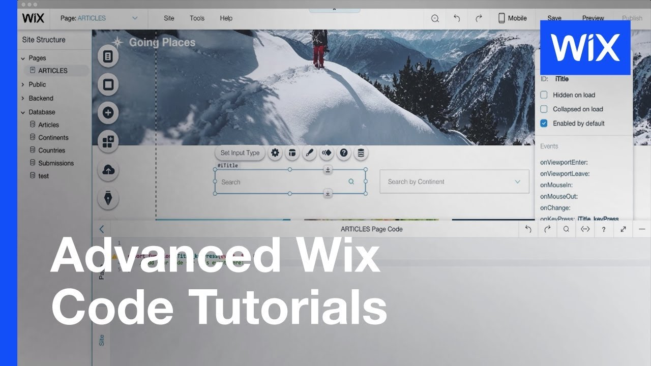 Wix Code How To Create A Search For Your Database Youtube