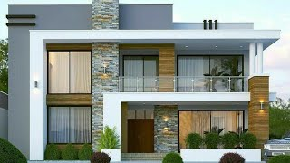 50 Small house front elevation design ideas 2020 - Exterior wall decorating ideas