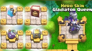 "SO MANY UPGRADES!! ""Clash Of Clans"" ROAD 2 Gladiator Queen!!"
