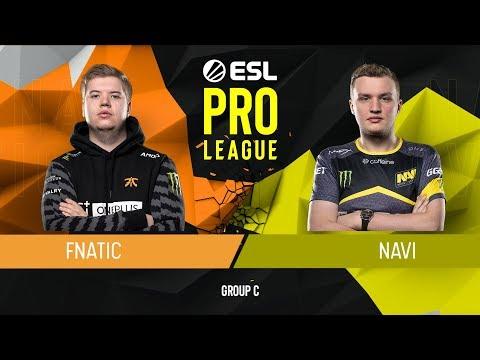 VOD: fnatic vs navi - esl pro league s9 - g1