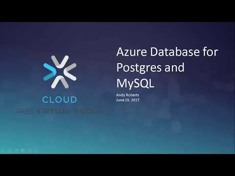 Azure Database for Postgres and MySQL with Andy Roberts