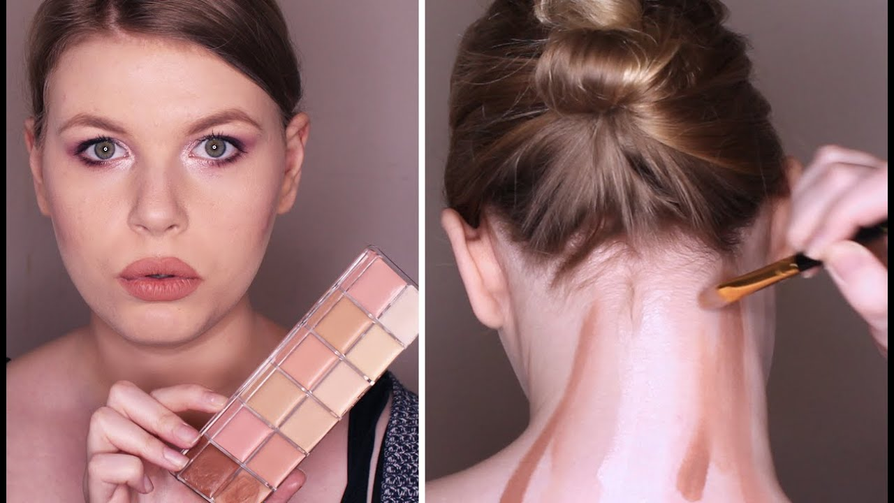 Contouring The Back Of My Neck Challenge Epic Fail Youtube