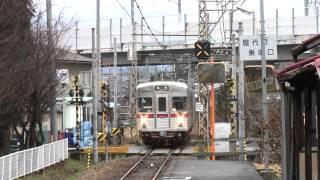 長野電鉄 屋代線 東屋代駅 412列車到着の様子 3月18日