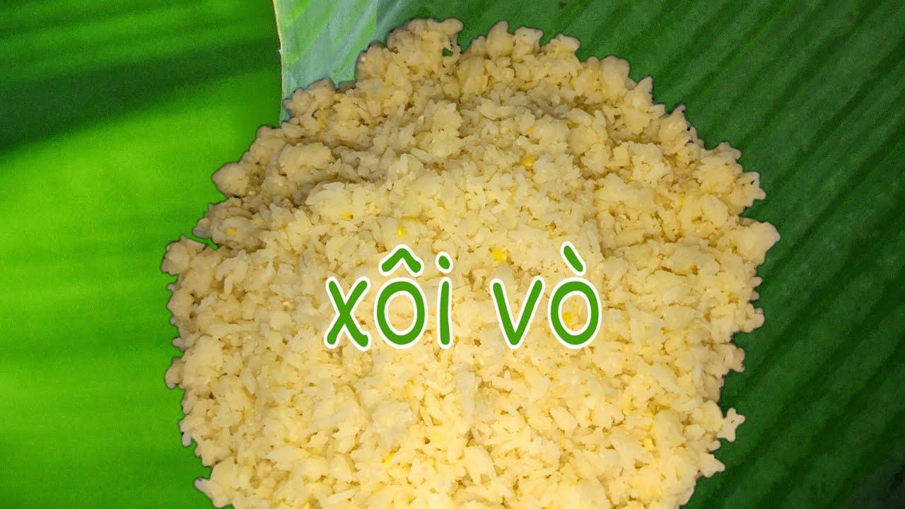 Thử nấu xôi vò món ăn kỉ niệm của tuổi thơ |Glutinous rice cooked with split peas |Ep30 #Vivianphan