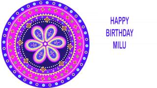 Milu   Indian Designs - Happy Birthday