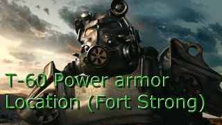 Fallout 4: T-60 Power armor location at Fort Strong Military base