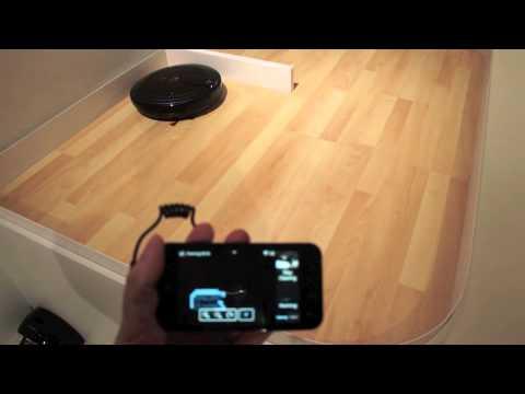 l 39 aspirateur robot lg contr l par un smartphone youtube. Black Bedroom Furniture Sets. Home Design Ideas