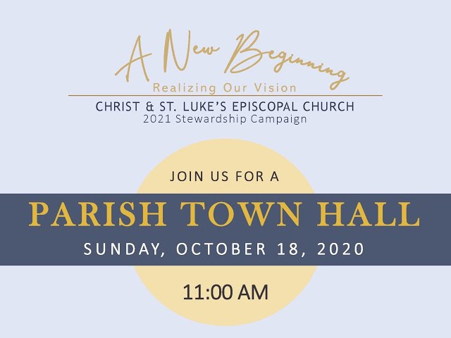 10.18.20 Town Hall Meeting