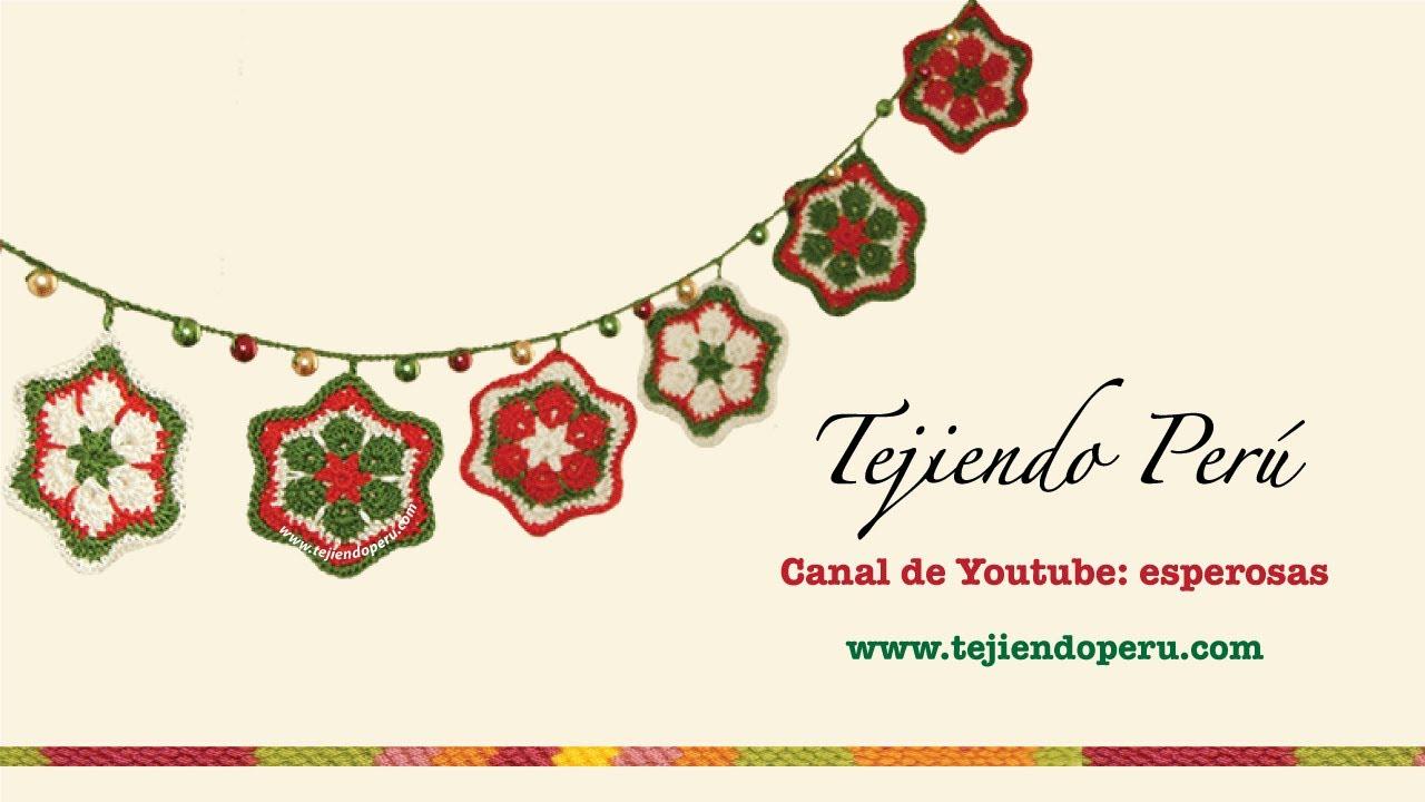Estrella de flor africana tejida a crochet (crochet african flower ...