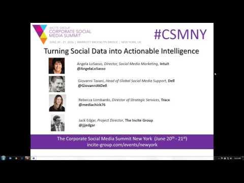 Incite Webinar: Turning Social Data into Actionable Intelligence