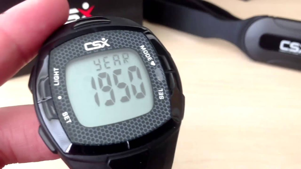 How to Setup the CSX C536X Heart Rate Monitor