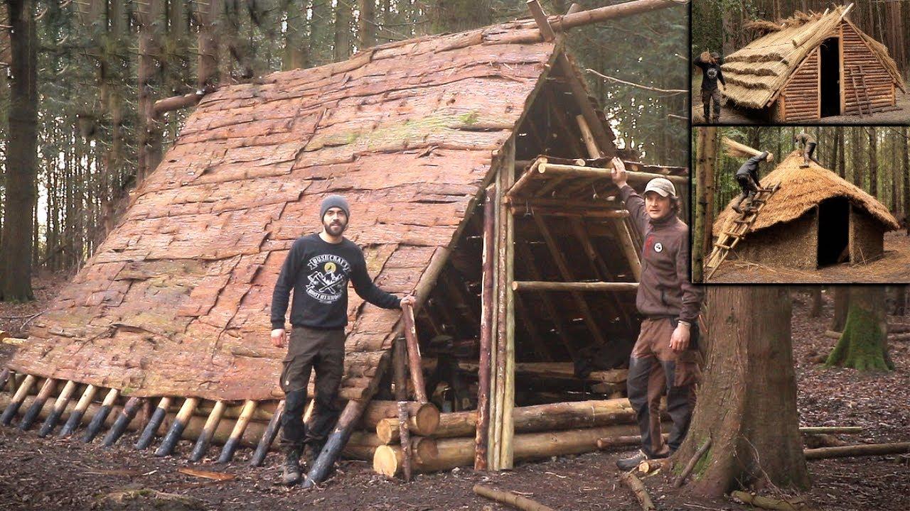 Building a Medieval Village in 32 Days: Bushcraft Skills | Bushcraft Shelters