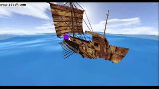 Ancient cargo ship simulation