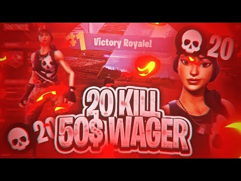 Fortnite Battle Royale | 20 Kill $50 Wager Aggresive GamePlay !!!!