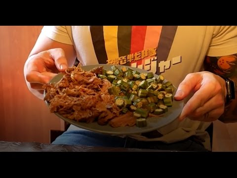 ENC Style Pulled Pork with Baked Okra,  Epic Healthy Manly Meals Epi. 1