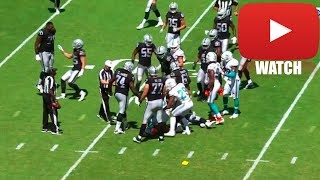 Fight Breaks out Leading to an Ejection (HD) Raiders vs Dolphins
