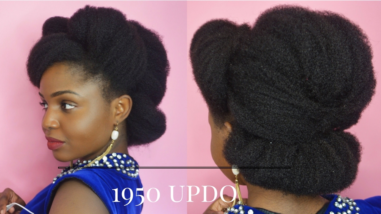 1950s / 1960s UPDO ON 4C NATURAL HAIR