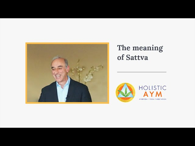 The meaning of Sattva