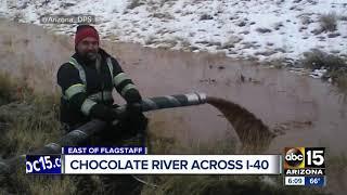 """""""نهر"""" من الشوكولاتة يظهر في شوارع أريزونا الأمريكية!"""