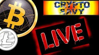 🔥SAVY LIVE STREAM🔥 bitcoin litecoin price prediction, analysis, news, trading