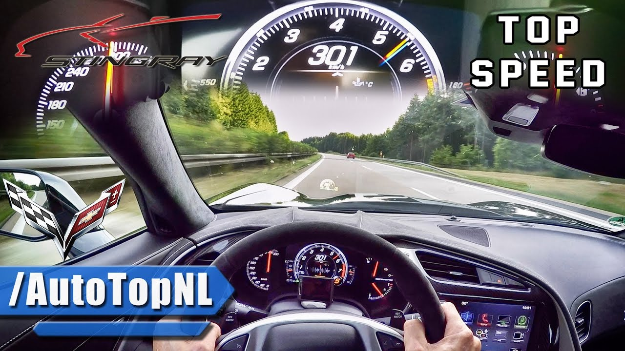 Corvette Stingray Top Speed >> 2017 Corvette Stingray C7 Acceleration Top Speed Autobahn Pov By