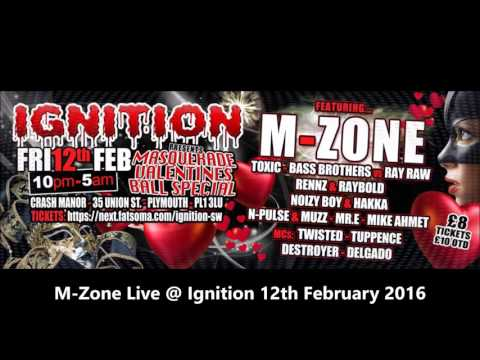 M-Zone@Ignition Valentines Masquerade Ball Special 12th February 2016