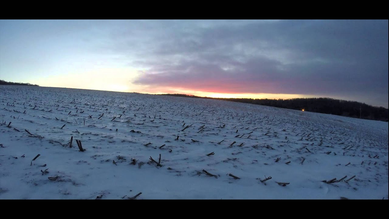 pennsylvania winter sunrise over snow covered corn field time lapse youtube. Black Bedroom Furniture Sets. Home Design Ideas