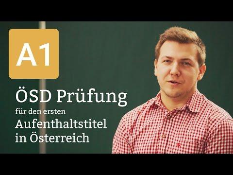 ÖSD A1 Prüfung Deutsch Für Den Ersten Aufenthaltstitel In Österreich