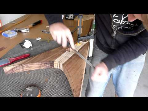 Flying V Part6 - Body route and edge chamfers - Hobson Guitars