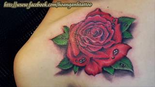 Rose Tattoo 3D-Hình xăm hoa hồng 3D -Hoàng Anh TATTOO Cần Thơ