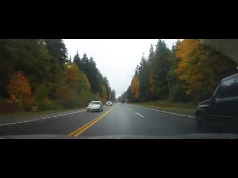 Driving up Highway 99 from Squamish to Whistler, BC - Canada