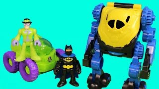 Imaginext Batman Robot & Riddler Rover with Robin Joker Fisher Price DC Superheroes